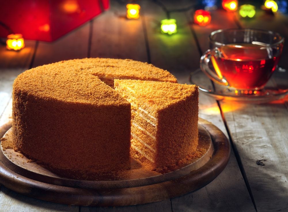 honey cake or medovyk