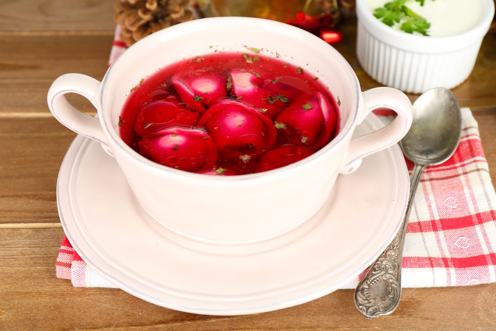 polish red borscht barszcz